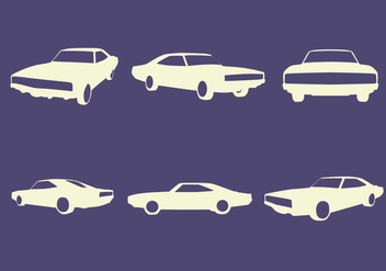 Car Silhouettes Vector - бесплатный vector #440611