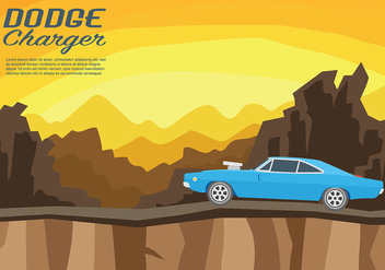 Dodge Charger Vector Background - Kostenloses vector #440631