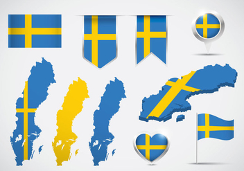 Sweden Map Vector - бесплатный vector #440731