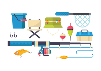 Free Fishing Tools Icon Set - Free vector #440741