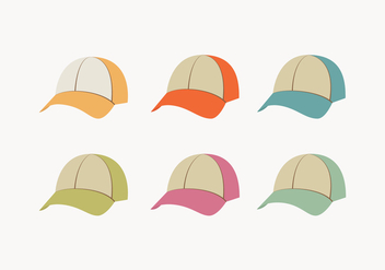 Colorful Trucker Hat Collection - vector #440791 gratis