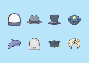 Free Headwear Icons - Free vector #440801