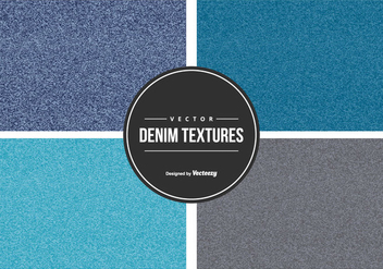Denim Vector Texture Collection - Free vector #440831