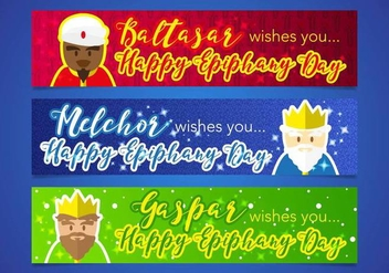 Epiphany Kings Magic Banners Vector - Kostenloses vector #440841