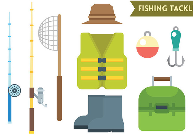 Fishing Tackle Vector Icons - бесплатный vector #440891