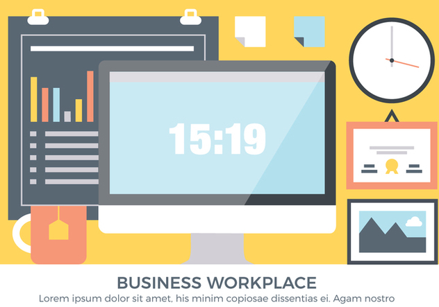 Free Business Workplace Vector Elements - vector #440921 gratis