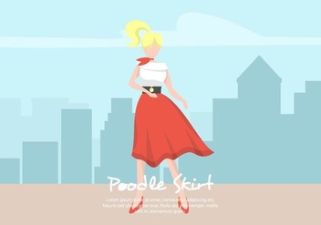 Poodle Skirt Illustration - Free vector #441041