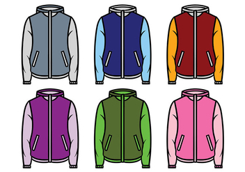 Windbreaker Jacket Vector - Free vector #441071