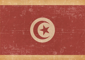 Old Grunge Flag of Tunisia - vector #441151 gratis