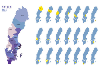 Sweden Map Vector - vector #441161 gratis