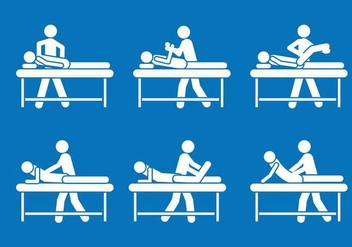 Physiotherapist pictogram symbol vector set - Free vector #441201