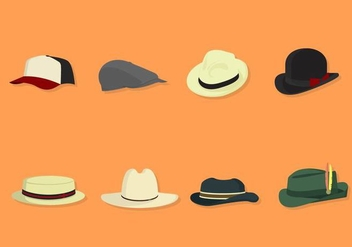 Flat Hat Collections - vector #441211 gratis