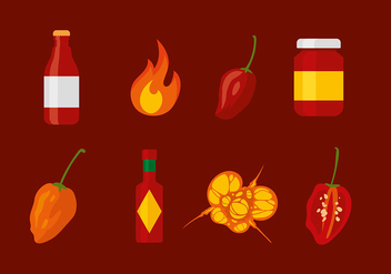Habanero Set Free Vector - бесплатный vector #441231