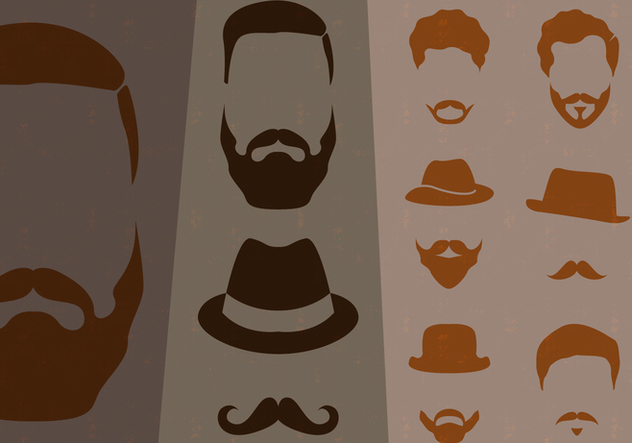 Hipster Style Mustache Collection - vector gratuit #441251