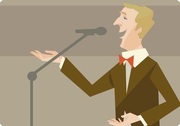 Man Singing Vector - Free vector #441311