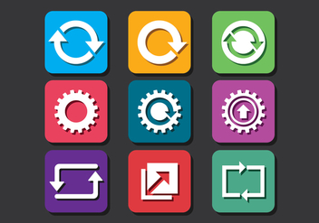 Update Icons Pack - vector gratuit #441351