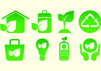 Set Of Biodegradable Icons - vector gratuit #441361