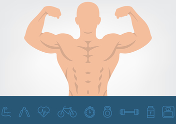 Muscle And Health Icons Set - Kostenloses vector #441401