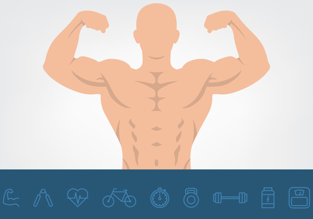 Muscle And Health Icons Set - vector gratuit #441401