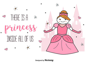 Princess Vector Illustration Background - Free vector #441481