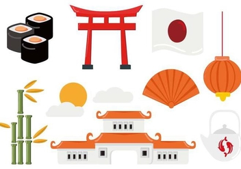 Free Japanese Travel Vector - бесплатный vector #441541