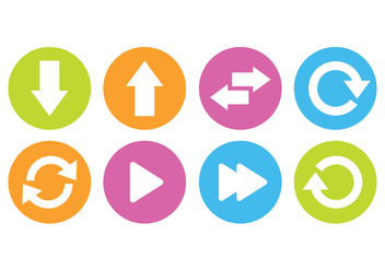 Arrow Button Icon Set - Free vector #441571