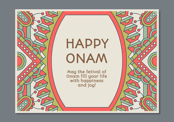 Onam Poster Template - Kostenloses vector #441581