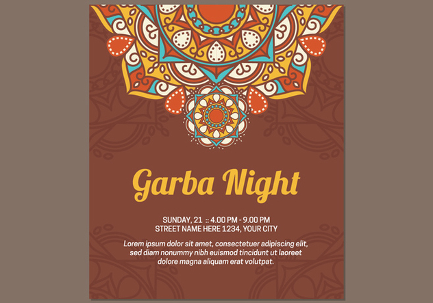 Garba Poster Template - Free vector #441591