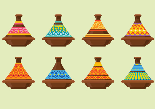 Tajines Made of Clay on the Souk in Chefchaouen, Marocco - vector gratuit #441601