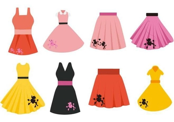 Free Poodle Skirt Costume Vector - vector #441621 gratis