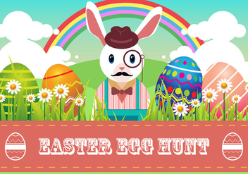 Easter Egg Hunt Vector - Free vector #441661