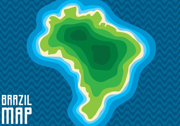 Brazil Map - vector gratuit #441701