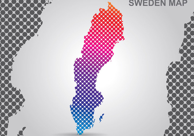 Sweden Map Background Vector - Free vector #441721