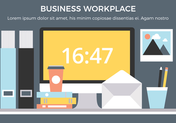 Free Business Workplace Vector Elements - Kostenloses vector #441731