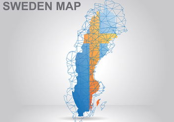 Sweden Map Background Vector - vector #441741 gratis