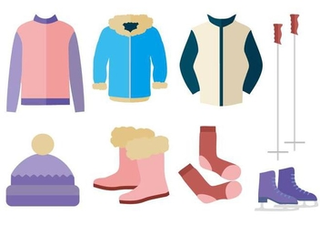 Free Autumn Winter Outerwear Vector - бесплатный vector #441841