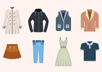Flat Clothes Vectors - бесплатный vector #441861