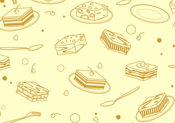 Outline Square Tiramisu Pattern Free Vector - Free vector #441871