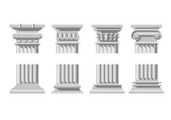 Roman column icons - vector gratuit #441911