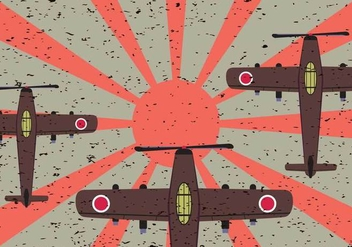 Free Japanese Fighter Plane Vector - Free vector #441991