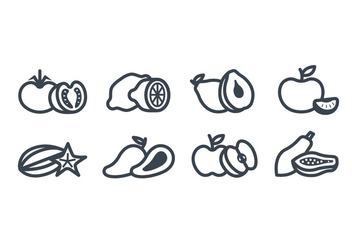 Fruits vector icon - Free vector #442001