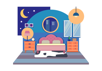 Room Decoration Vector Illustration - vector gratuit #442261