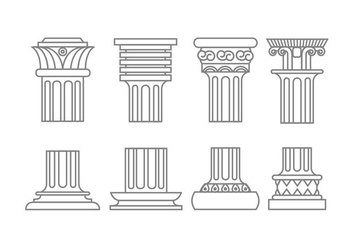 Roman column icons - vector gratuit #442271