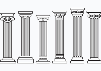 Set of Corinthian Columns - vector gratuit #442311