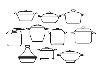Free Pan Line Collection Vector - vector gratuit #442321