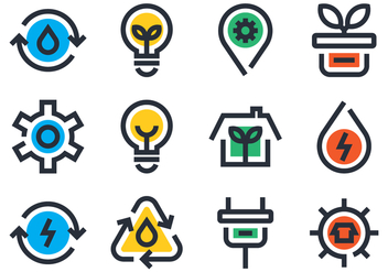 Ecology Icon Set - vector gratuit #442341