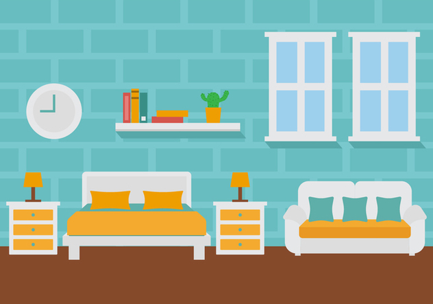 Free Room Decoration Vector Illustration - Kostenloses vector #442351
