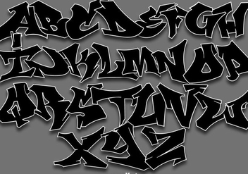 Vector Graffiti Alphabet Letters - бесплатный vector #442371