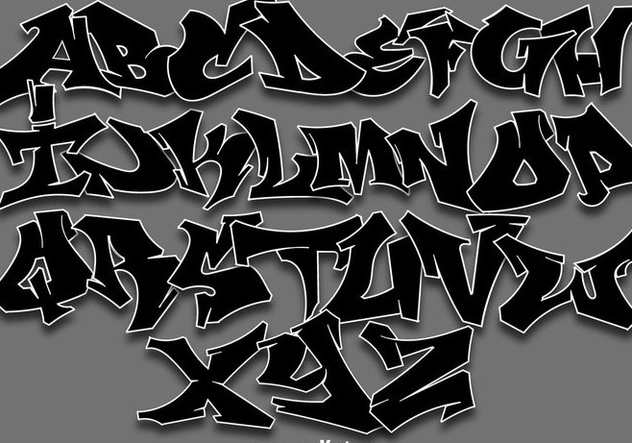 Vector Graffiti Alphabet Letters - Free vector #442371