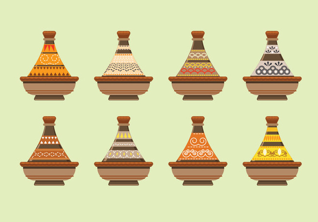 Moroccan Tajine Collection - бесплатный vector #442401